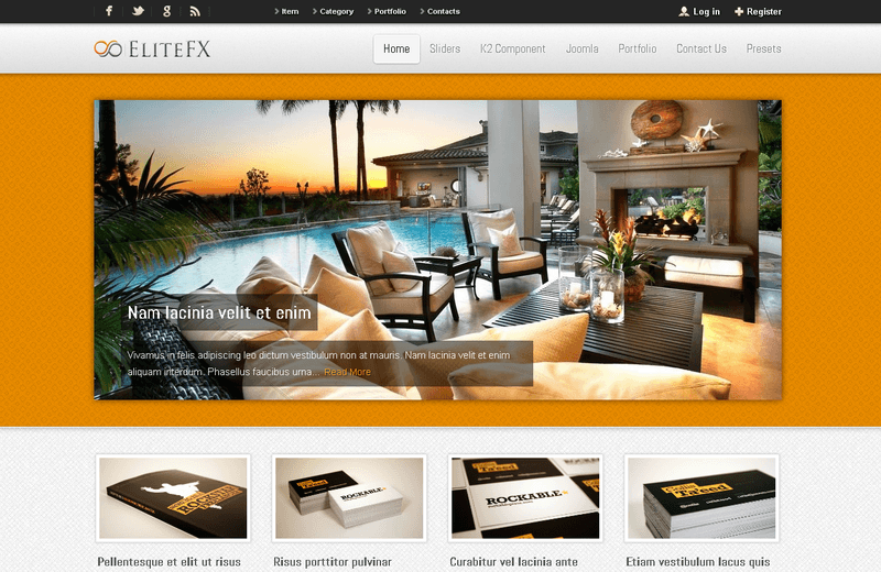 EliteFX - Joomla Template
