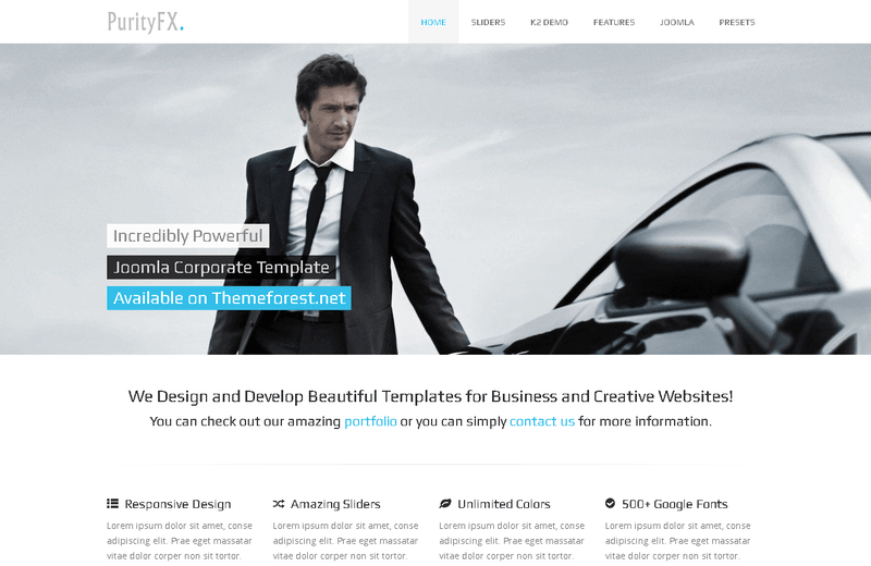PurityFX - Joomla Template
