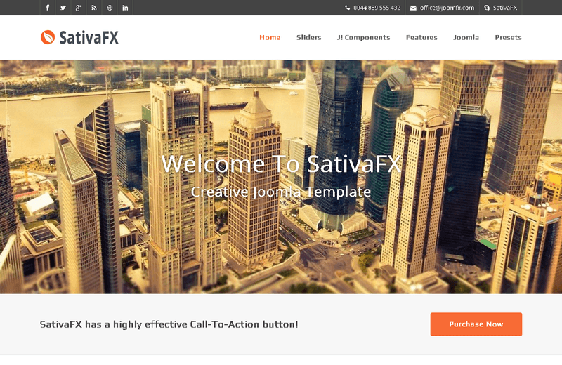 SativaFX - Joomla Template